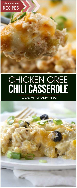 Chicken Gree Chili Casserole