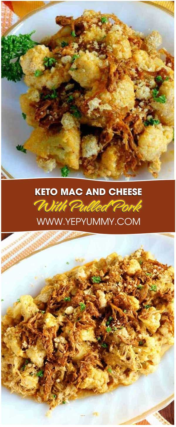 Keto Mac And Cheese With Pulled Pork