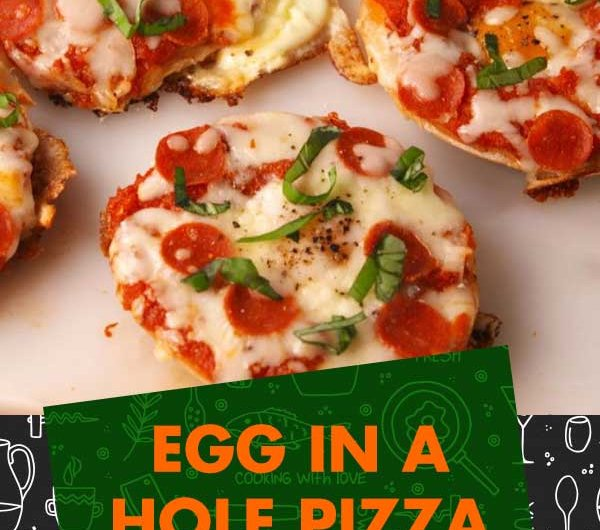 Egg-in-a-Hole Pizza Bagels