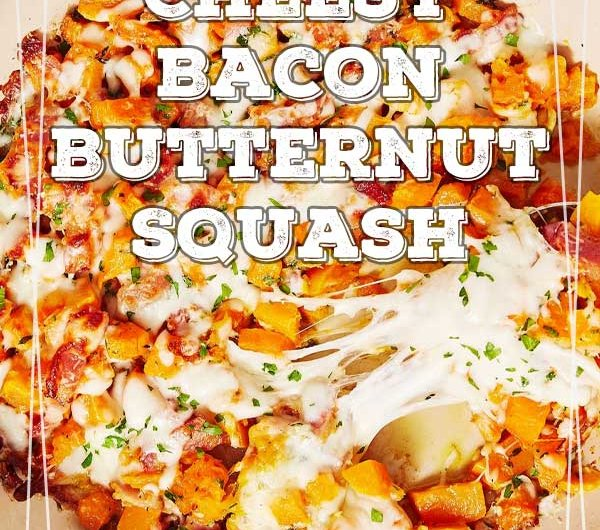 Cheesy Bacon Butternut Squash