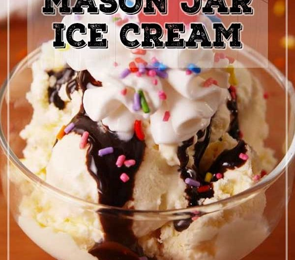 Mason Jar Ice Cream